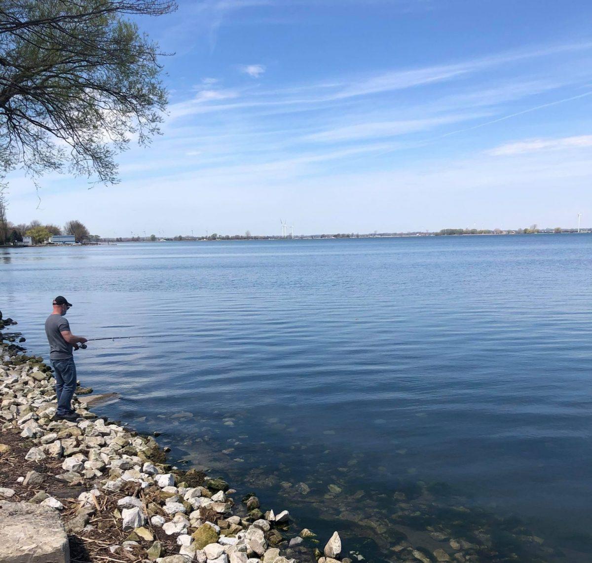 Shoreline Fishing at Erieau