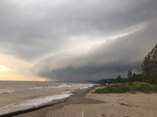 Storm at Port Stanley