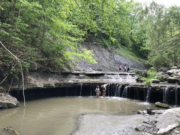 Swimming at Rock Glen Conservation Area