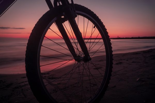 Bicycle by beach